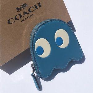 Coach x Pac-Man Ghost River Blue Coin Purse